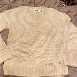 NWT Victoria Secret Pink sz S vneck sweater